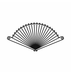Opened oriental fan icon outline style vector image
