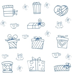 Christmas with hand draw element doodle vector