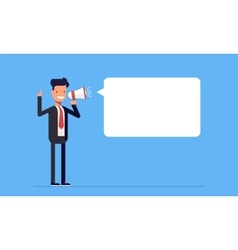 Businessman or manager yelling to the speaker Man vector image