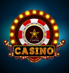 Casino light sign vector