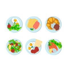 Breakfast different peoples of the world vector