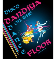 Disco dandiya vector