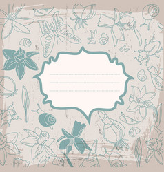 soft color flowers background vector image