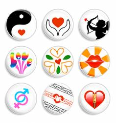 Love badges vector