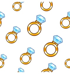 Diamond ring background vector image
