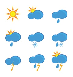 Icons for weather forecast color vector