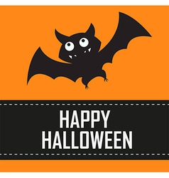 Halloween bat background vector