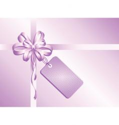 gift with label vector image