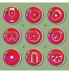 Love symbols vector