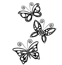 Three butterflies 2 vector