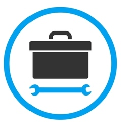Toolbox rounded icon vector