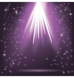 Purple Rays of Magic Lights vector image