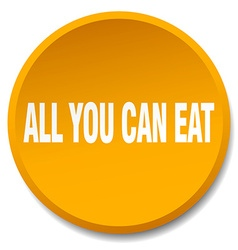 All you can eat orange round flat isolated push vector