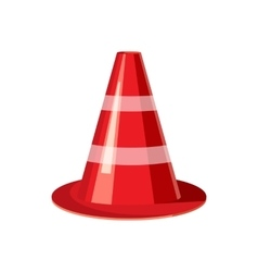 Traffic cone icon cartoon style vector