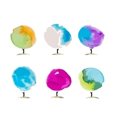 Abstract watercolor trees place for your text vector image