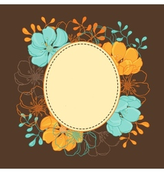 background with hand drawn stylish flowers vector image