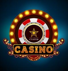 Casino light sign vector