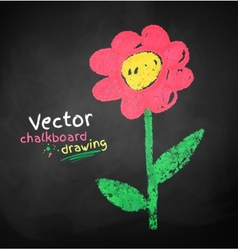 Childlike drawing of flower vector image vector image