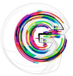 Colorful font letter g vector