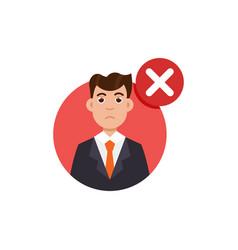 Customer review negative feedback concept vector