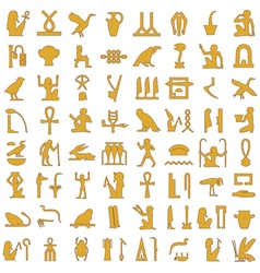 Egyptian hieroglyphs decorative set1 vector