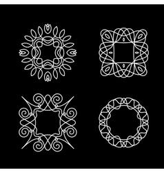 Elegant frames vector image vector image