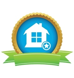 Favorite house certificate icon vector