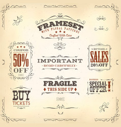 hand drawn vintage banners and ribbons vector image vector image