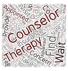 How to Find the Best Counselor for You text vector image vector image