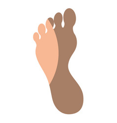 Human foot silhouette vector