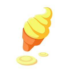 icon icecream vector image vector image