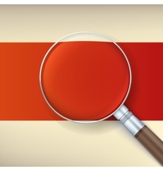 Magnifying glass with reflex vector image vector image