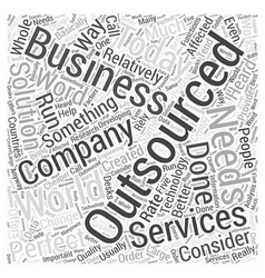 Outsourcing services word cloud concept vector