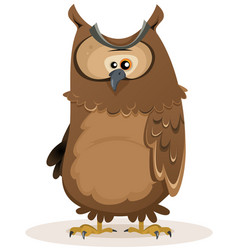 owl character vector image vector image