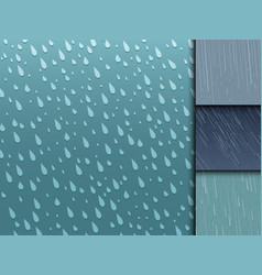 seamless colorful rain drops pattern background vector image vector image