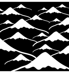 Simple mountains black and white dark background vector