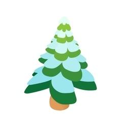 Snowy fir icon cartoon style vector image vector image