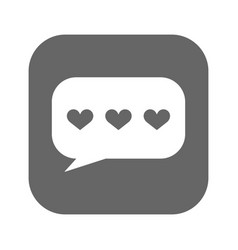 speech bubbles with hearts icon filled vector image vector image