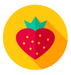 Sweet strawberry circle icon vector