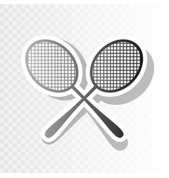 Tennis racquets sign new year blackish vector