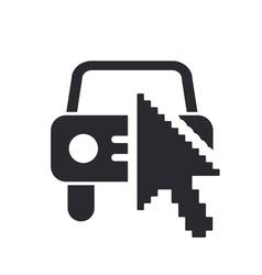web car icon vector image vector image