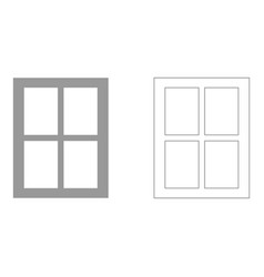 window set icon vector image vector image