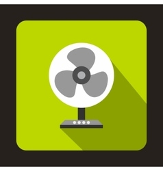 Fan icon flat style vector image
