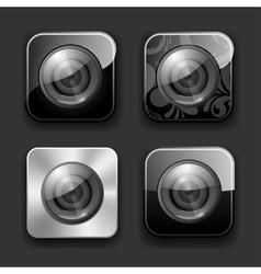 Camera apps icon set vector