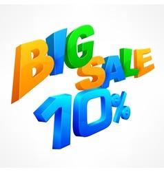 Big sale ten percent inscription vector image