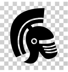 rome helmet icon vector image