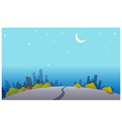 Night skyline vector
