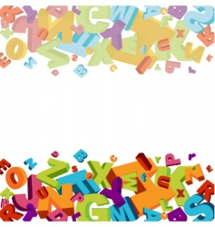 Alphabet background vector