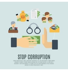 Corruption concept flat vector