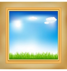 Landscape in frame vector